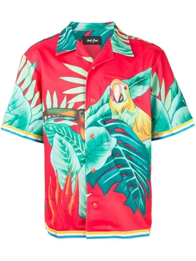 Just Don - Tropical Print Hawaiian Shirt - Men
