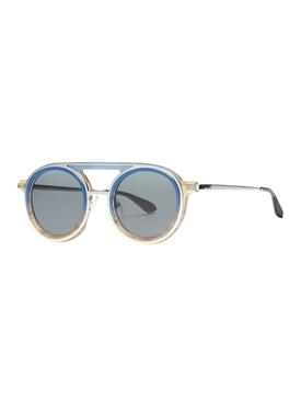 Stormy round frame aviator sunglasses