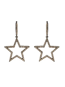 Rosa De La Cruz - 25mm Diamond Star Earrings - Fine Earrings