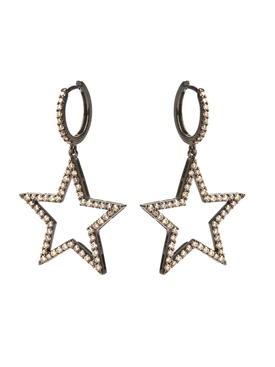 25MM DIAMOND STAR EARRINGS PAIR