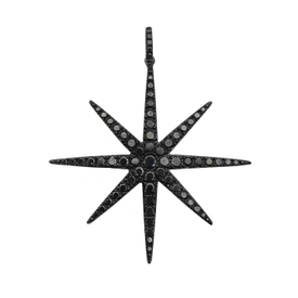 Black diamond star necklace