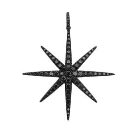 Black diamond star necklace