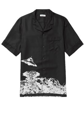 Valentino - Black And White Ufo Shirt - Short Sleeves