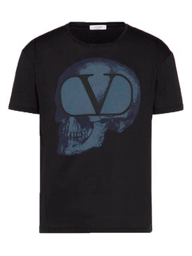 Valentino - Skull Go V Logo T-shirt Black - Men
