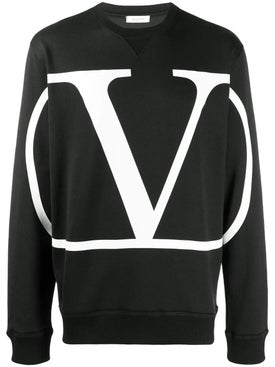 Valentino - V Logo Sweatshirt Black - Men