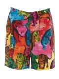 Valentino - Saturated Tiger Print Crepe Shorts - Men