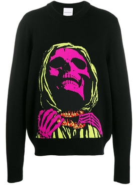 skull face sweater