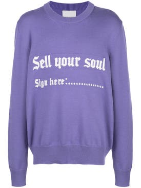 Nasaseasons - Sell Your Soul Intarsia Sweater - Men