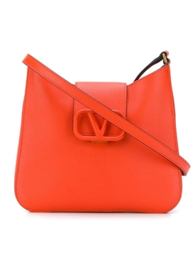 Logo clasp shoulder bag RED