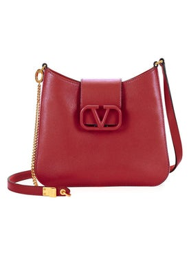 Valentino Garavani - Logo Clasp Shoulder Bag Rose - Women