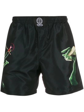 Sss World Corp - Alien Hand Print Swim Shorts - Men