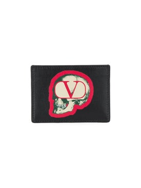 Valentino - Skull V Logo Card Holder - Wallet