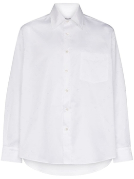 Tonal logo print shirt WHITE