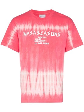Nasaseasons - Pink Tie-dye Print T-shirt - Men