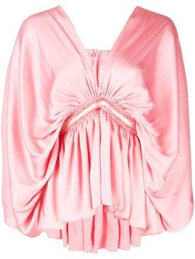 Maison Rabih Kayrouz - Gathered Front Blouse Pink - Blouses