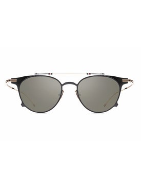 Thom Browne - Thom Browne X Dita Black Iron And Gold Round Sunglasses - Men