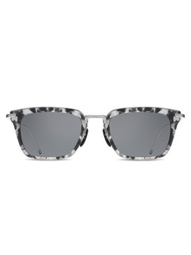 Thom Browne - Thom Browne X Dita Dark Grey Tortoiseshell Square Sunglasses - Men