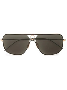 Thom Browne - Thom Browne X Dita Black And Gold Sunglasses - Men