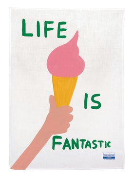 David Shrigley - Life Is Fantastic Tea Towel Multicolor - Home