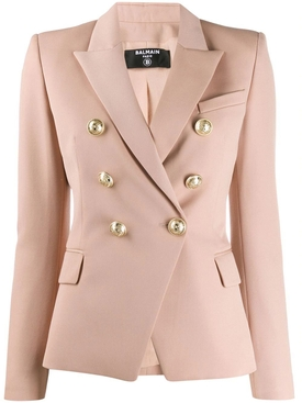 six button fitted blazer BEIGE ROSE