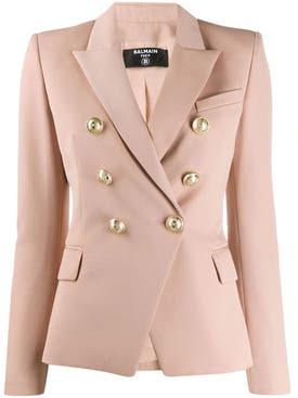 Balmain - Six Button Fitted Blazer Beige Rose - Women