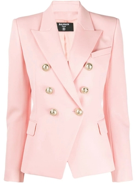 six button fitted blazer PALE ROSE