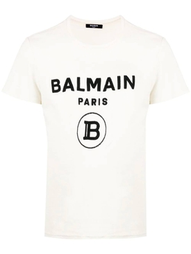 Contrasting logo cotton t-shirt WHITE