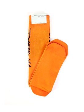 Off-white - Cursive Logo Intarsia Socks Orange - Women