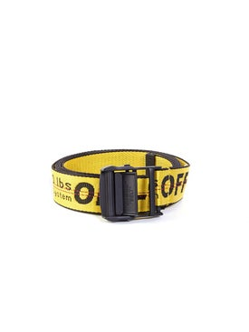 Off-white - Classic Engraved Logo Industrial Belt Yellow - Men