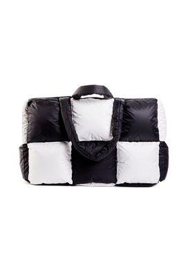 Off-white - Oversized Puffy Nylon Shopper Black & White - Women