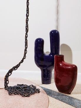 Harvey Bouterse - Burgundy Red Sculptural Vase - Home