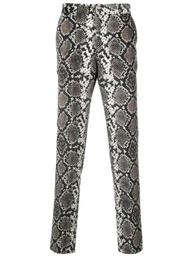 Sss World Corp - Snakeskin Effect Tuxedo Pants - Men