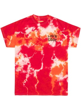 Livincool - Orange And Red Tie Dye T-shirt - Men