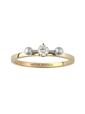 Delfina Delettrez - Two In One Bar Piercing Ring - Women