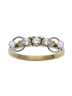 Delfina Delettrez - Two In One Pear Piercing Ring - Women