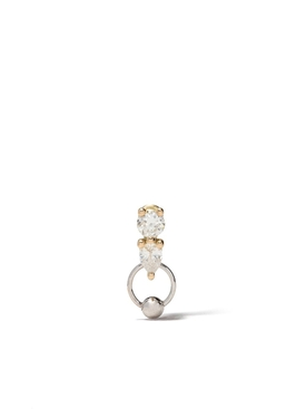 Delfina Delettrez - Two In One Diamond And Captive Hoop Earring - Women