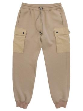Beige jogger pants
