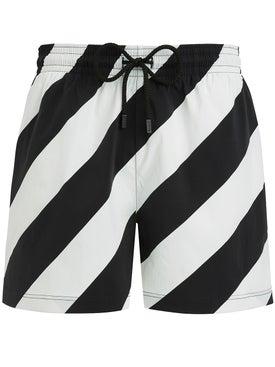 Off-white - Off-white X Vilebrequin Striped Swim Shorts - Beachwear