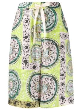 Venetian print linen shorts