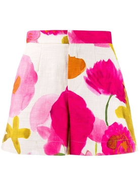 Multicolored floral shorts