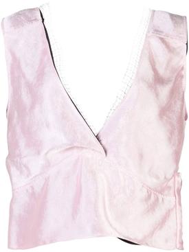 sleeveless v-neck top