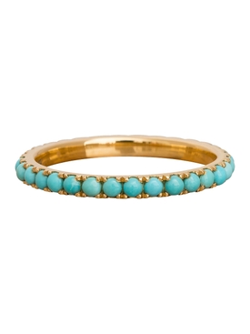 Turquoise and gold eternity ring