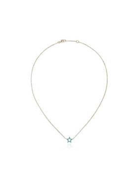 18K gold and turquoise star necklace