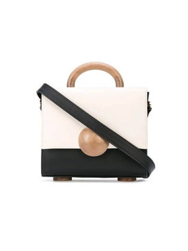 Bakari - Tussaud Mini Color-blocked Handbag Black/white - Women
