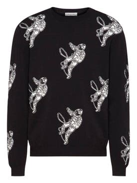 Valentino - Black And White Astronaut Sweater - Men
