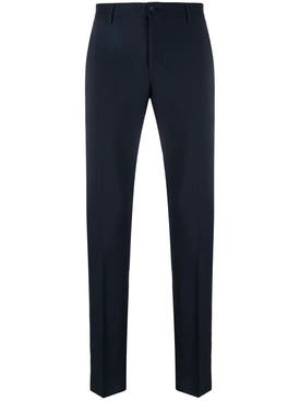 Valentino - Stripe Panel Tailored Trousers Black & Red - Men