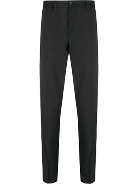 STRIPE PANEL TAILORED TROUSERS BLACK & WHITE