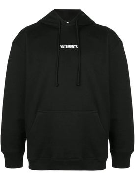 Vetements - Front Logo Hoodie Black - Men
