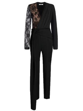 Givenchy - Lace Draped Detailed Jumpsuit - Women
