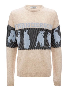 J.w. Anderson - Animal Jacquard Logo Sweater - Women